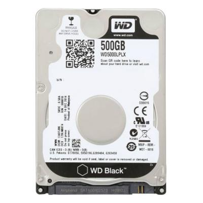 НЖМД WD 2.5 SATA 3.0 0.5TB 7200rpm 32Mb Cache Black 7mm (WD5000LPLX)