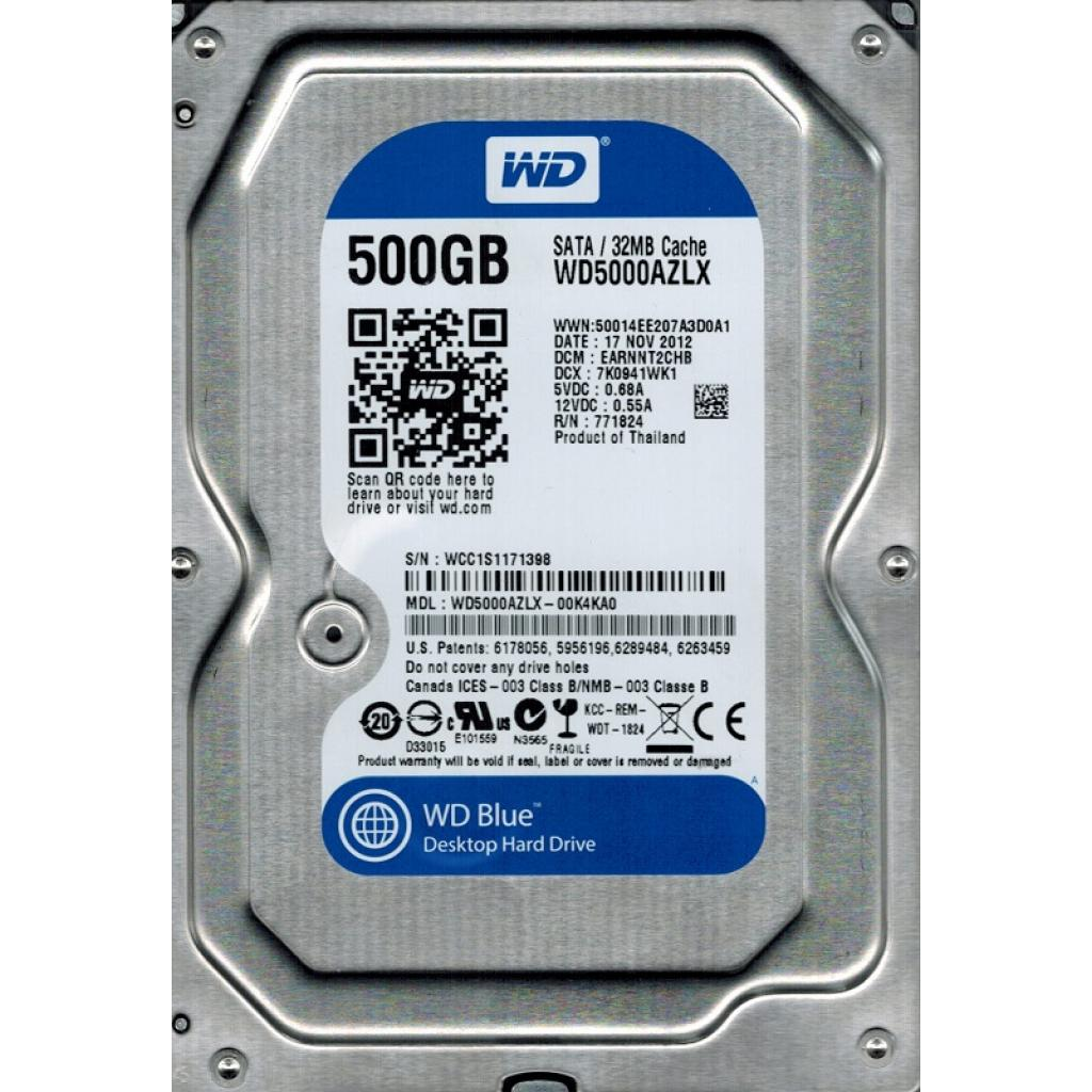 Жесткий диск 3.5'  500Gb Western Digital (WD5000AZLX)
