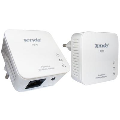 Адаптер Powerline TENDA P200, 200Mbit (2шт в упаковке), 1xFE (P200-KIT)