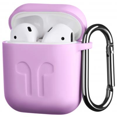 Чохол 2E для Apple AirPods Pure Color Silicone Imprint 1.5 мм Lavende (2E-AIR-PODS-IBSI-1.5-LV)