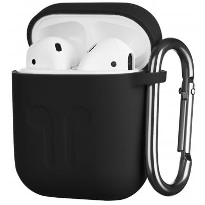 Чохол 2E для Apple AirPods Pure Color Silicone Imprint 1.5 мм Black (2E-AIR-PODS-IBSI-1.5-BK)