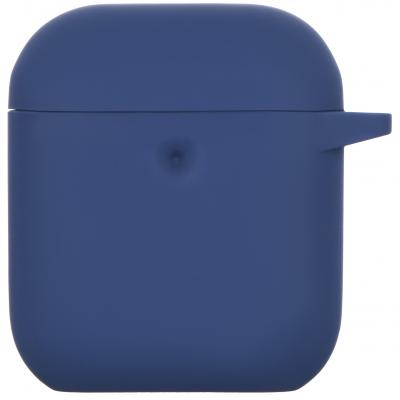 Чохол 2E для Apple AirPods Pure Color Silicone 3.0 мм Navy (2E-AIR-PODS-IBPCS-3-NV)