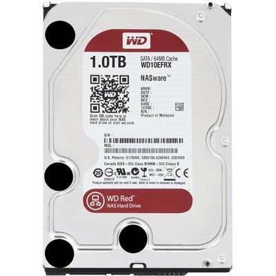 Накопитель HDD 3.5' SATA 1000Gb WD WD10EFRX 5400rpm 64MB