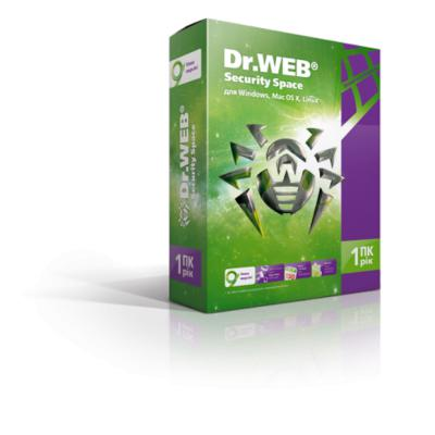 Программное обеспечение Dr. Web Security Space 9.0, 1 Device, 1 year (BHW-A-12M-1-A3)